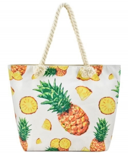 Designer Summer Pineapple Canvas Tote Bag FC00644