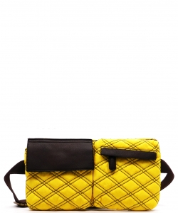 Designer Inspired Fanny Bag T100 YELLOW