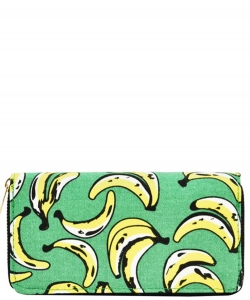 Designer Fruits Single Zip Around Wallet WA00482