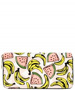 Designer Fruits Single Zip Around Wallet WA00483