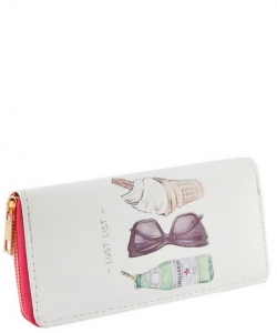 Designer Love Single Zip Around Wallet WA00484