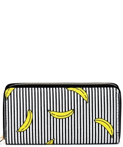 Designer Fruits Single Zip Around Wallet WA00485