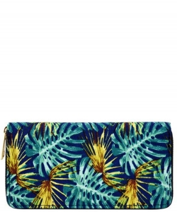 Designer Tropical Single Zip Around Wallet WA00521
