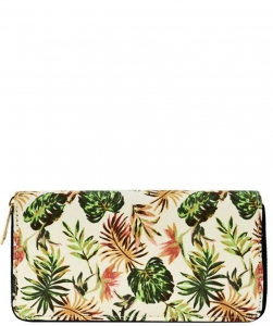 Designer Tropical Single Zip Around Wallet WA00524