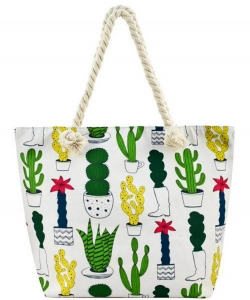 Designer Cactus Canvas Tote Bag FC0061