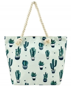 Designer Cactus Canvas Tote Bag  FC0062