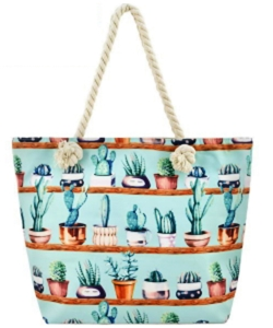 Designer Cactus Canvas Tote Bag  FC0066-4
