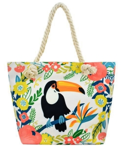 Designer Toucan Canvas Tote Bag FC00652