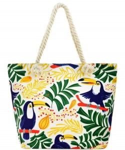 Designer Toucan Canvas Tote Bag FC00654