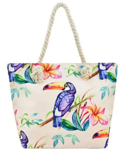 Designer Toucan Canvas Tote Bag FC00655