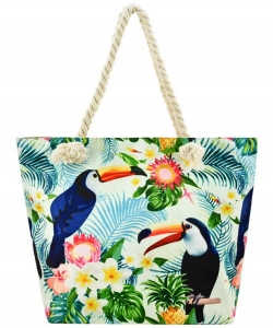 Designer Toucan Canvas Tote Bag FC00656