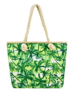 Designer Palm Tree Canvas Tote Bag FC00503