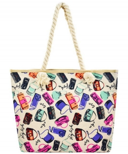 Designer Fashion Illustration Canvas Tote Bag