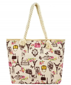Designer Paris Canvas Tote Bag FC00514