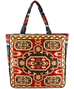 Embroidered Large Fashion Tote Bag FC00172