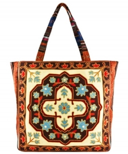Embroidered Large Fashion Tote Bag FC00175