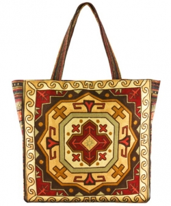 Embroidered Large Fashion Tote Bag FC00176