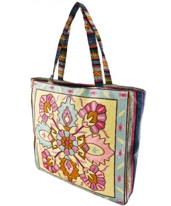 Embroidered Large Fashion Tote Bag FC00178
