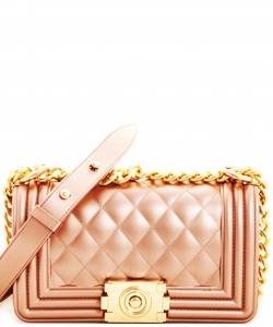 Fashion Cute PVC Crossbody Bag 7003 RGOLD