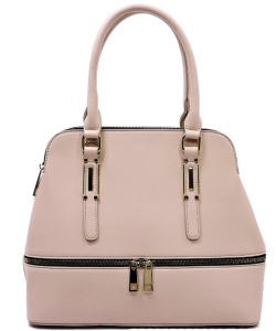 Fashion Zip Top Handle Satchel LW1402A LPINK