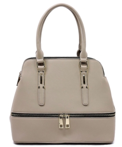 Fashion Zip Top Handle Satchel LW1402A STONE