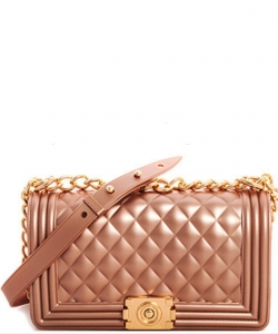 Fashion Chic Thick Pvc Tender Crossbody Bag PR7017