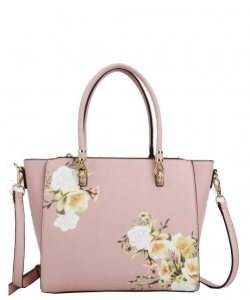 Flower Printed Day Satchel L0978 PINK