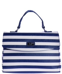 Refined Striped Tote Bag 1613-6 NAVY