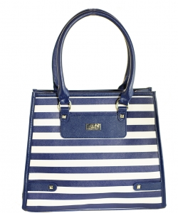 Refined Striped Tote Bag 1613-3 NAVY