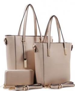 3 in 1 Chic Modern Fashion Satchel Bag BS-T1738 BIEGE