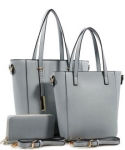 3 in 1 Chic Modern Fashion Satchel Bag BS-T1738 LBLUE