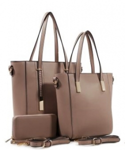 3 in 1 Chic Modern Fashion Satchel Bag BS-T1738 SAND