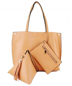 "3 In 1"" Fashion Bag Top Magnetic Open/Closure SM305 CAMEL"
