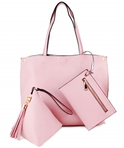 "3 In 1"" Fashion Bag Top Magnetic Open/Closure SM305 PINK"