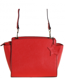 Luxury Genuine Leather Classic Clutch with Strap MTX5 RED