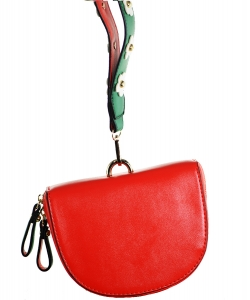 Luxury r Classic Clutch with Chain 6508 RED