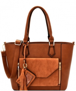 2 IN1 Fashion Tote Bag - EW-1416 TAN