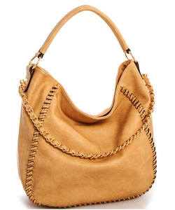 Chain Accent Whipstitched Hobo SS1192-LP CAMEL