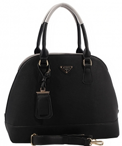 Promenade Bag, Satchel Handbag For Women, Classic Dome Bag ES1132 BLACK