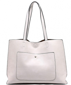 Fashion Front Pocket Reversible Tote WZ6790 BIEGE