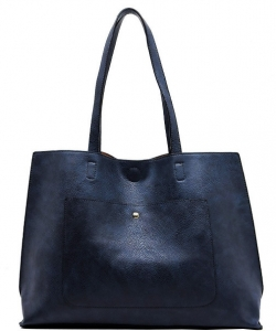Fashion Front Pocket Reversible Tote WZ6790 BLUE