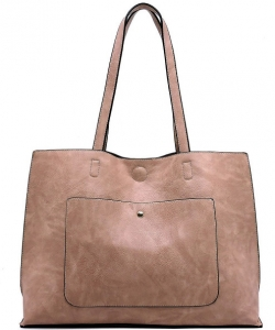 Fashion Front Pocket Reversible Tote WZ6790 BLUSH