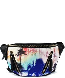 Elegant Print Fashion Fanny Pack Waist Bag CLS2358 PALM TREE