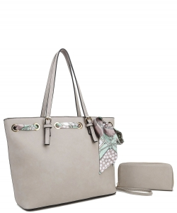 Fashion Top Handle 2-in-1 Shopper T2173 GREY