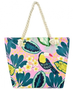 Designer Toucan Canvas Tote Bag FC00657