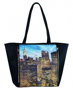 Large Tote Womens Magazine Purse Handbag A81053 -4 BLACK