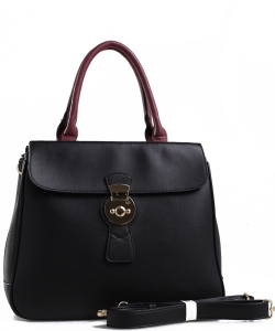 PW-1378 BK/BK/WN FASHION HANDBAG