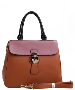 PW-1378 BR/BK/WN FASHION HANDBAG