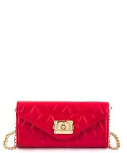 81109  Quilt Crossbody Purse Red