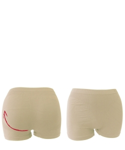 1 Doz. Micro Fiber Hip Up Shorts  4797 NUDE
